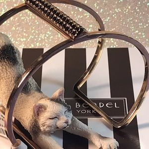 Henri Bendel ✨Lux Pave Bar Rose Gold Cage Bracelet
